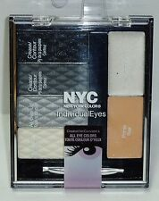 1 Compact Of NYC Individual Eyeshadow For All Eye Colors SMOKEY CHARCOALS 944