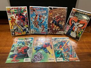 MARVEL SPIDER-MAN 7 BOOK LOT - Various Spider-Man Titles - VF OR BETTER