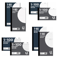 INVOICE, DUPLICATE,  RECEIPT BOOK PAD NUMBERED 1-80,1-100 PAGE + 2 CARBON COPY