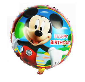 """5 X 18"""" -Mickey Mouse- Foil Balloons Kids Boys/ Girls Birthday Party Decoration"""