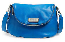 NEW MARC BY MARC JACOBS New Q Natasha Leather Crossbody Bag Salton Sea Blue $368