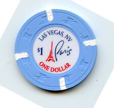 1.00 Casino Chip from the Paris Casino Las Vegas Nevada Lt Blue