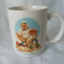 "Norman Rockwell Coffee Mug ""Catching The Big One"" 1987 Collection."