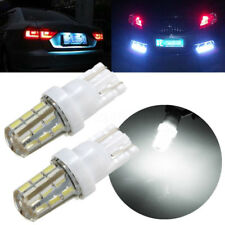 2x Xenon White 24-SMD T10 168 194 3014 LED Bulb For Car License Plate Side Light