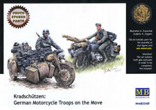 Master Box 1/35 German Motorcycle Troops on the Move # 3548F