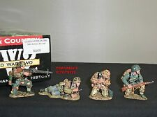 KING AND COUNTRY WSS51 GERMAN FORCES MG42 GUN GROUP METAL TOY SOLDIER FIGURE SET
