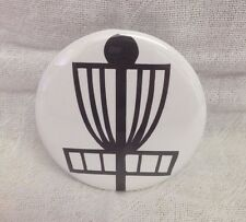 Disc Golf Basket Pin-back Button! Perfect for Disc Golf bag! Great Gift!! USA!