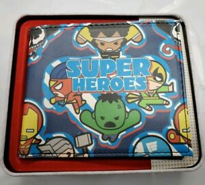 Marvel Kawaii Super Heroes Slimfold wallet With Collection Tin