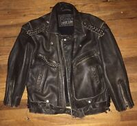 Vintage Leather Bomber Jacket George Marcianio Guess Jeans