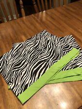 Zebra and lime green window valance