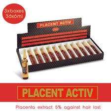 3xElidor Placenta Hair Liquid Treatment Lotion Placent Activ Hair Loss 36x6ml