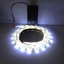 White Led Light, 9V Battery Operated 500mm Strip Ideal For Dolls House Lighting