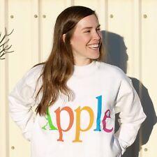Original Vintage Hanes 'The Apple Collection' Logo Sweatshirt/Jumper White SZ M