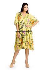 100% Cotton Women's Yellow Short Spa Gown Kaftan Bath Robe Party Wear Dress Maxi