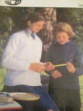 SIRDAR knitting pattern  Childrens School sweaters Crew or V neck  sze 26-30