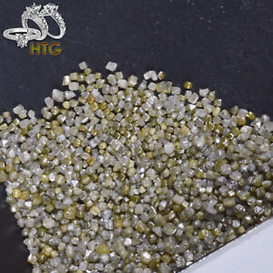 100% Natural Loose Cube Shape Dark Gray 0.90-1.30mm 5 Carats Lot Rough Diamonds