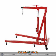 Engine Hoist Shop Crane Jack Lift Hand Operated  2 Ton/4400 Lbs Foldable