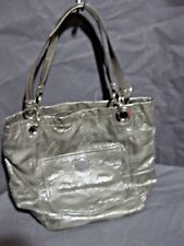 COACH OP ART ALEX LARGE GRAY PATENT LEATHER  BUCKET TOTE L0920-14265
