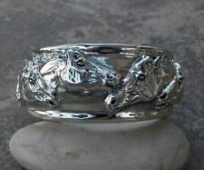 Cavalli Del Mar Equine Argentium Sterling Silver Portrait Horse Cuff Bracelet