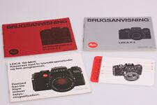 Leica R4 + Motor-Winder R4 Brugsanvisning