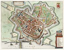 MAP ANTIQUE VAN LOON ATLAS ZUTPHEN CITY PLAN LARGE REPLICA POSTER PRINT PAM1324