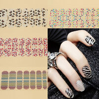 New DIY 17 Style French Manicure Nail Art Tips Tape Sticker Guide Stencil