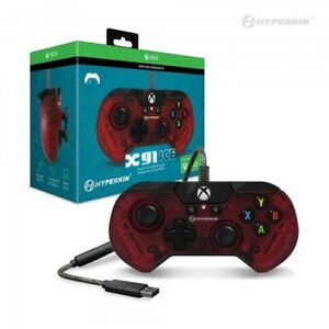 X91 Wired Controller for Xbox One/ Windows 10 (Ice Ruby Red) - Hyperkin