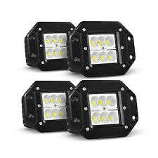 "4X 4"" CREE SQUARE CUBE LED POD LIGHT LAMP OFFROAD BUMPER FLOOD FLUSH MOUNT 18w"