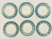 "VTG Empire Porcelain Co Staffordshire England Set Of 6 Handpainted 8"" Plates"