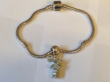 Windmill TG310 on a silver Rhodium Plated Snake Bracelet