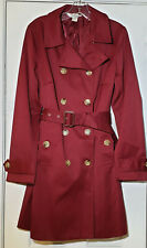 NWOT Banana Republic Women's Red Long Sleeve Long Double Breast Trench Coat M