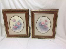 """Home Interior Homco""""Elegant(Set of Two)Pink Roses""""Picture"""