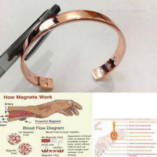 Magnetic Copper Bracelet Healing Bio Therapy Arthritis Pain Relief Bangle Cuff F
