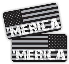 MERICA American Flags Black Ops Hard Hat Stickers  Motorcycle Helmet Decals USA