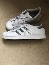 Girls Adidas Hologram Superstars UK Size 2.5