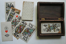 1876 Antique Tarot Bismarck Piatnik 53/54 VERY RARE old German Funfzig tax-stamp
