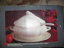 WHITTIER WARE OF CALIFORNIA SOUP TUREEN, 4-PIECE VINTAGE - NEW - IN THE BOX