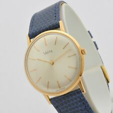Vetta 60s 18 kt rose gold 33 mm manual winding Peseux 320 serviced