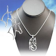 ELEGANT NEW DESIGN HORSE WESTERN JEWELRY COWGIRL NECKLACE EARRINGS SET