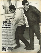PUBLICITE ADVERTISING 104  1982  DICTOGRAPH    système de sécurité