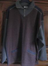warmer Fleece Pullover Herren GR. L loden grün, grau braun