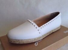 CHRISTIAN LOUBOUTIN ARES WHITE 41 11 LEATHER ESPADRILLES FLATS WOMAN SHOES SUMME