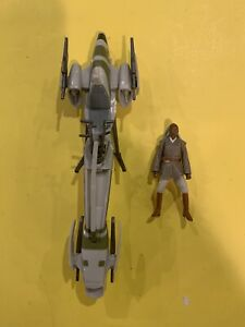 STAR WARS ROTS BARC SPEEDER & Jedi STASS ALLIE LOOSE Action Figure Lot