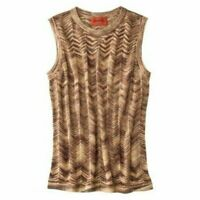 Missoni for Target Gold Knit Chevron Sweater Vest - Women's Small S