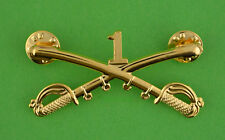 1st Cavalry Crossed Sabers Large Hat Pin