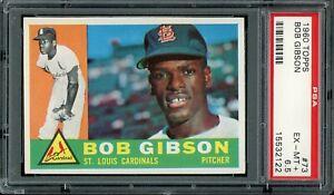 1960 Topps Baseball #73 Bob Gibson PSA 6.5