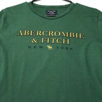 90s Vintage Single Stitch Abercrombie Fitch Adult Graphic T Shirt Medium M Green