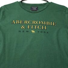 90s Vintage Single Stitch Abercrombie Fitch Adult Graphic T Shirt Medium M Green