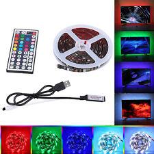 tira de luces led TV Fondo Iluminación RGB cambio color 5050 cinta lámpara DC5V