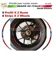 """Kit adesivi CORSE rosso blu per ruote Moto Ducati """"V845"""